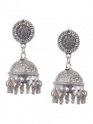 0b36f0186c33d Classic Jhumkis Silver Jhumka | Earrings | Earrings, Jewelry, Classic