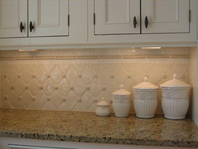 kitchen backsplash diamond pattern