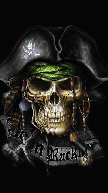 Pirate Skull 360 X 640 Wallpapers Disponible Para Su