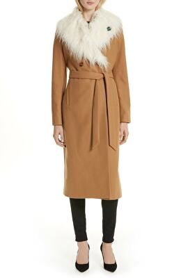 78fa528392ec TED BAKER LONDON Designer Colour By Numbers Alcaza Wool Coat with Removable  Faux Fur Collar
