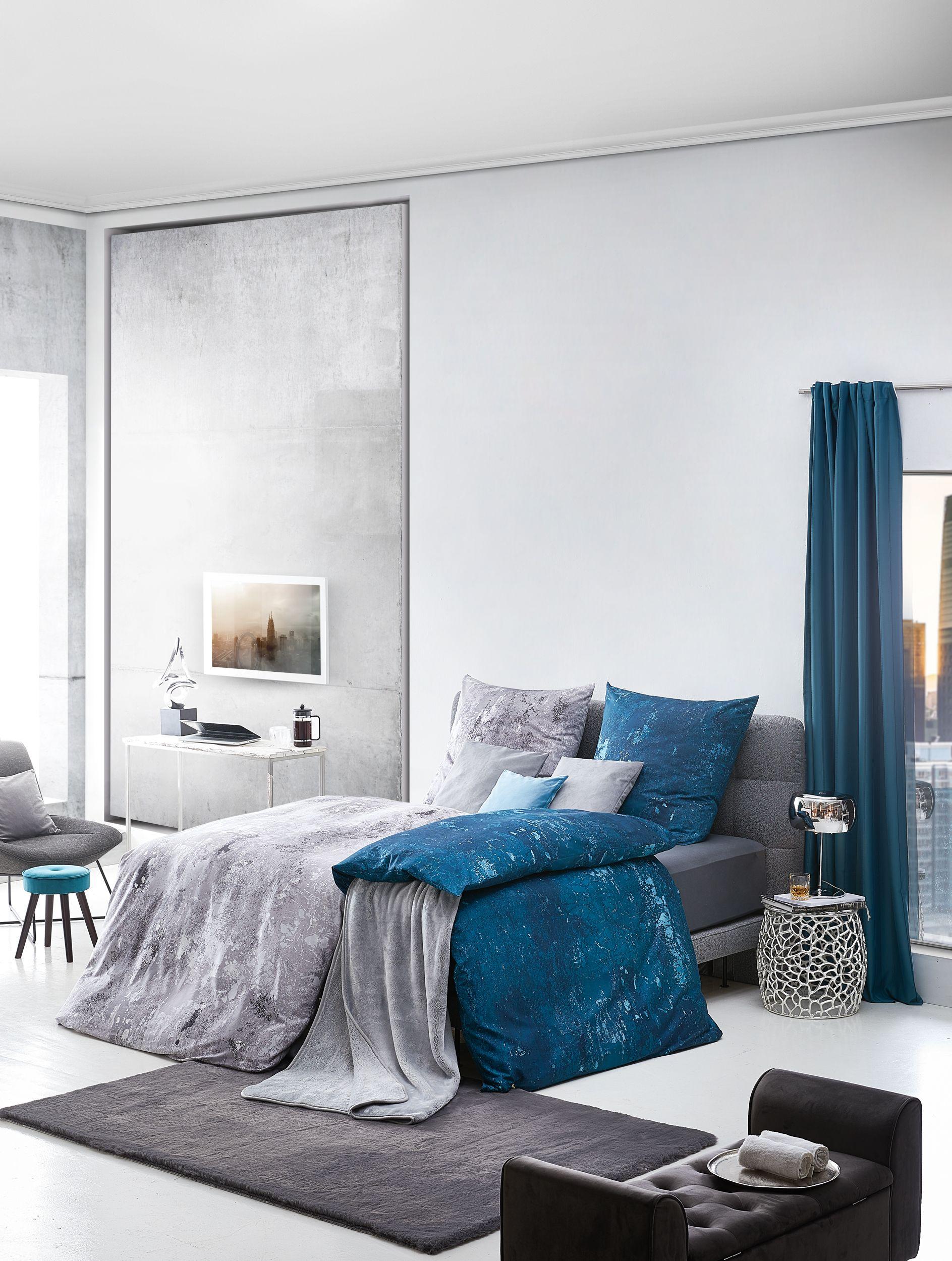 Einmal dieses Schlafzimmer, bitte! Trotz kühlen Farben und ...