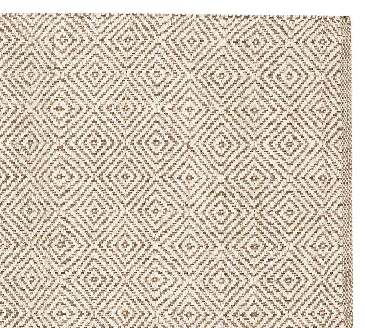 Option For Tv Room Duncan Diamond Natural Fibre Rug Ivory