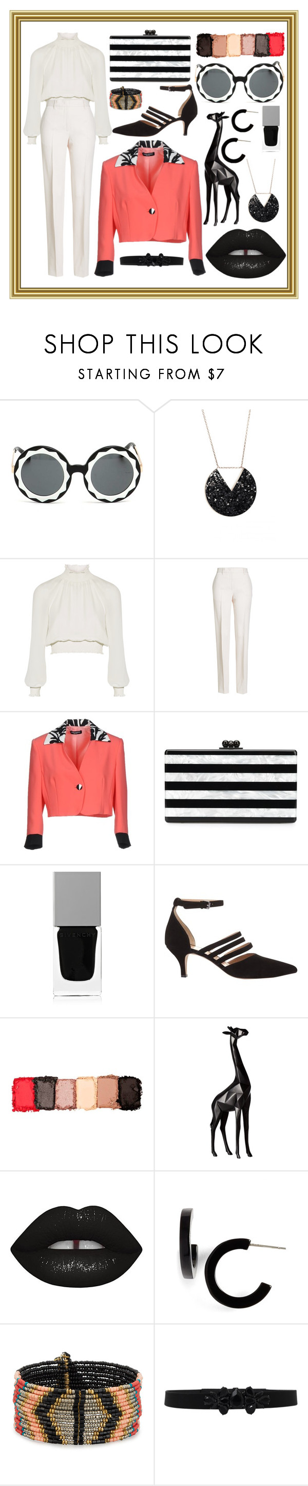 """Untitled #111"" by asena-cakmak on Polyvore featuring Markus Lupfer, Cinq à Sept, Jil Sander, Alberta Anticoli, Edie Parker, Givenchy, Mint Velvet, NYX, Torre & Tagus and Lime Crime"