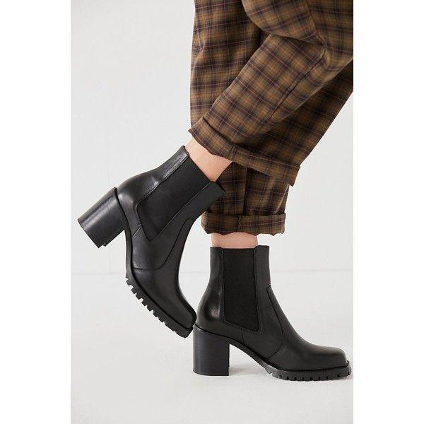 Pu platform block heel chelsea boots | Shop Clothes at Nasty Gal!