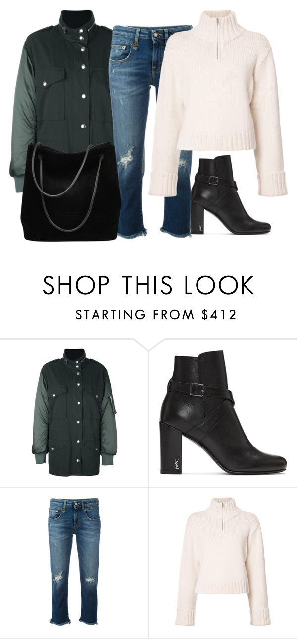 """""""Untitled #4262"""" by ericacavaco12 ❤ liked on Polyvore featuring Alexander Wang, Yves Saint Laurent, R13, Protagonist and Gucci"""