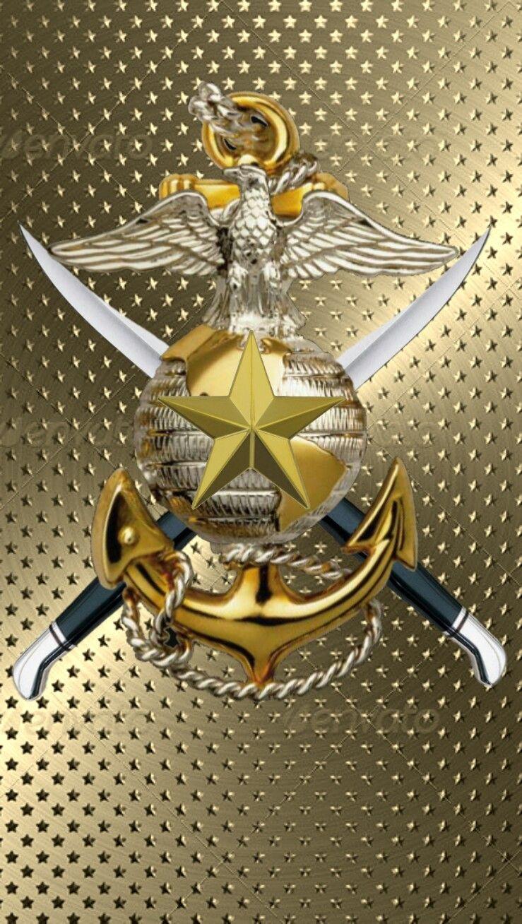 Cool Symbol Wallpaper Naval With Gold Wallpaper Bingkai Foto Kreatif Bingkai