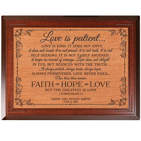 Love Is Patient Love Is Kind Parent Wedding By