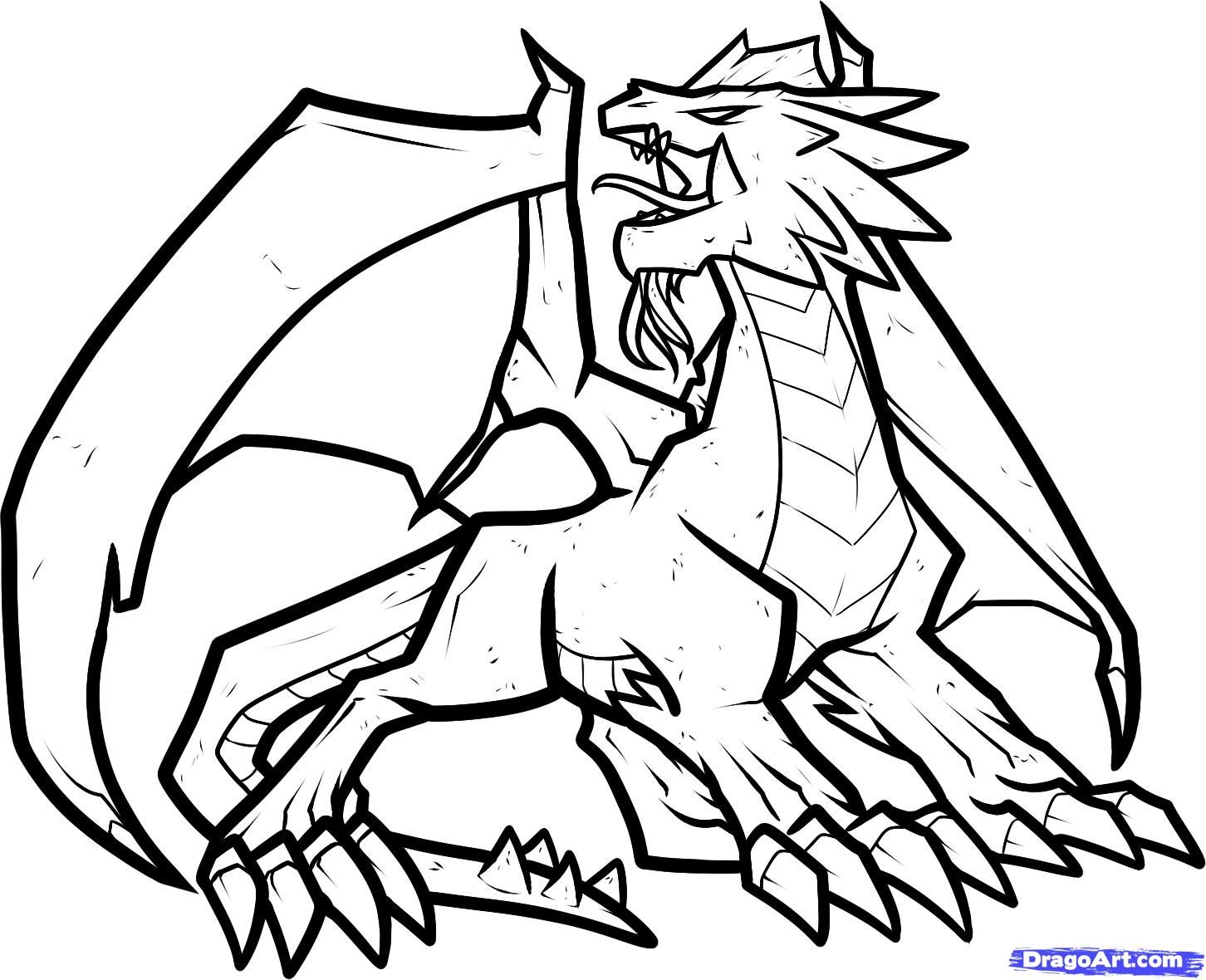 How To Draw A Fire Dragon Fire Dragon Red Dragon By Dawn