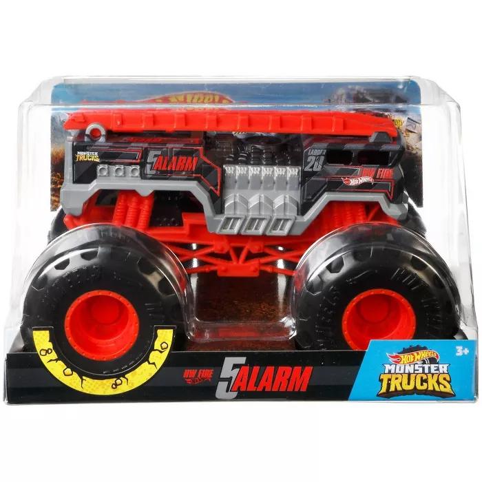 Hot Wheels Monster Trucks 5 Alarm 1 24 Scale Vehicle Hot Wheels Monster Trucks Trucks