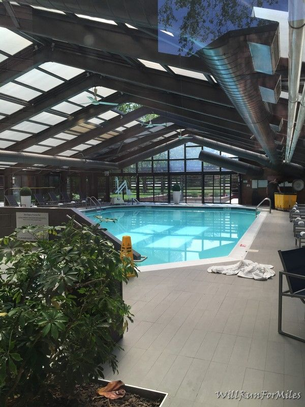 The State Of The Art Fitness Center And Pool At The Hyatt Regency Princeton Will Run For Miles Fitness Center Pool Center Pool