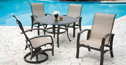 Monarch Sling Collection From Castelle Outdoor Patio Furniture