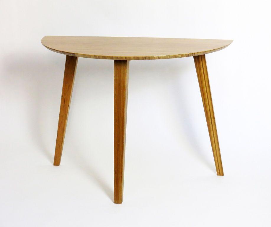Bambus Wandtisch Halbrund 102 Cm Wandtisch Tisch Und Bambus