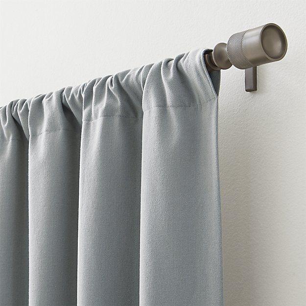 Devlin Antique Zinc Curtain Hardware Crate And Barrel Curtains Grey Curtains