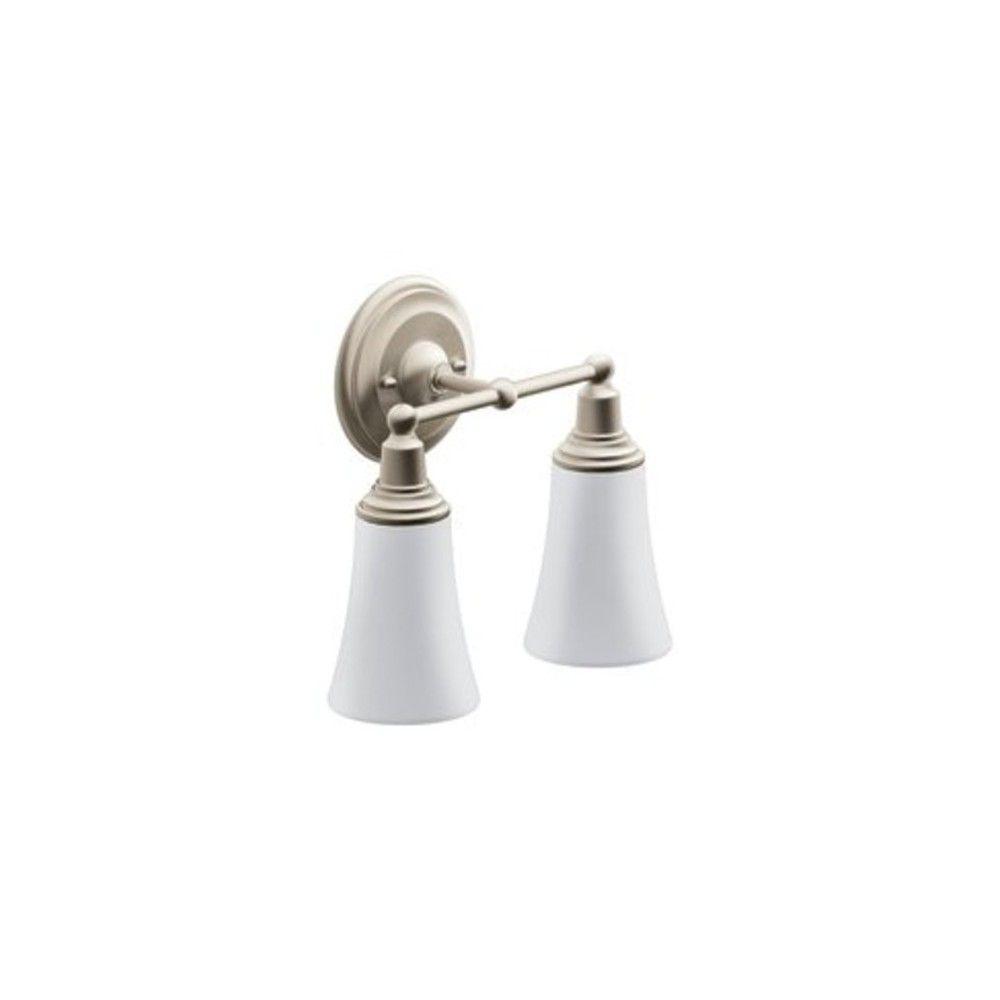 Photo of Moen YB8262 11.96″ Wide 2 Light Bathroom Fixture – Brushed Nickel