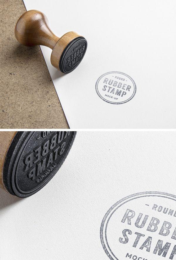 Rubber Stamp Psd Mockup Dizajn Kataloga Produkcii Maket
