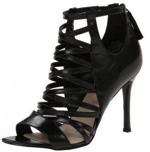 Nine West Women's Funkfresh Leather Dress Sandal, Black, 8 M US