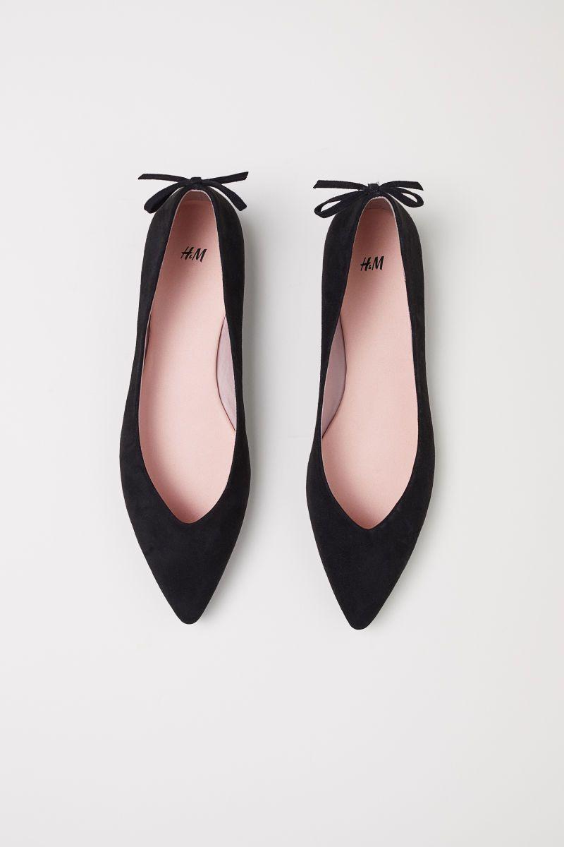 Pointed ballet pumps | Black | LADIES