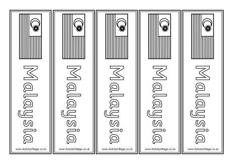 malaysia bookmarks downloads flags printables