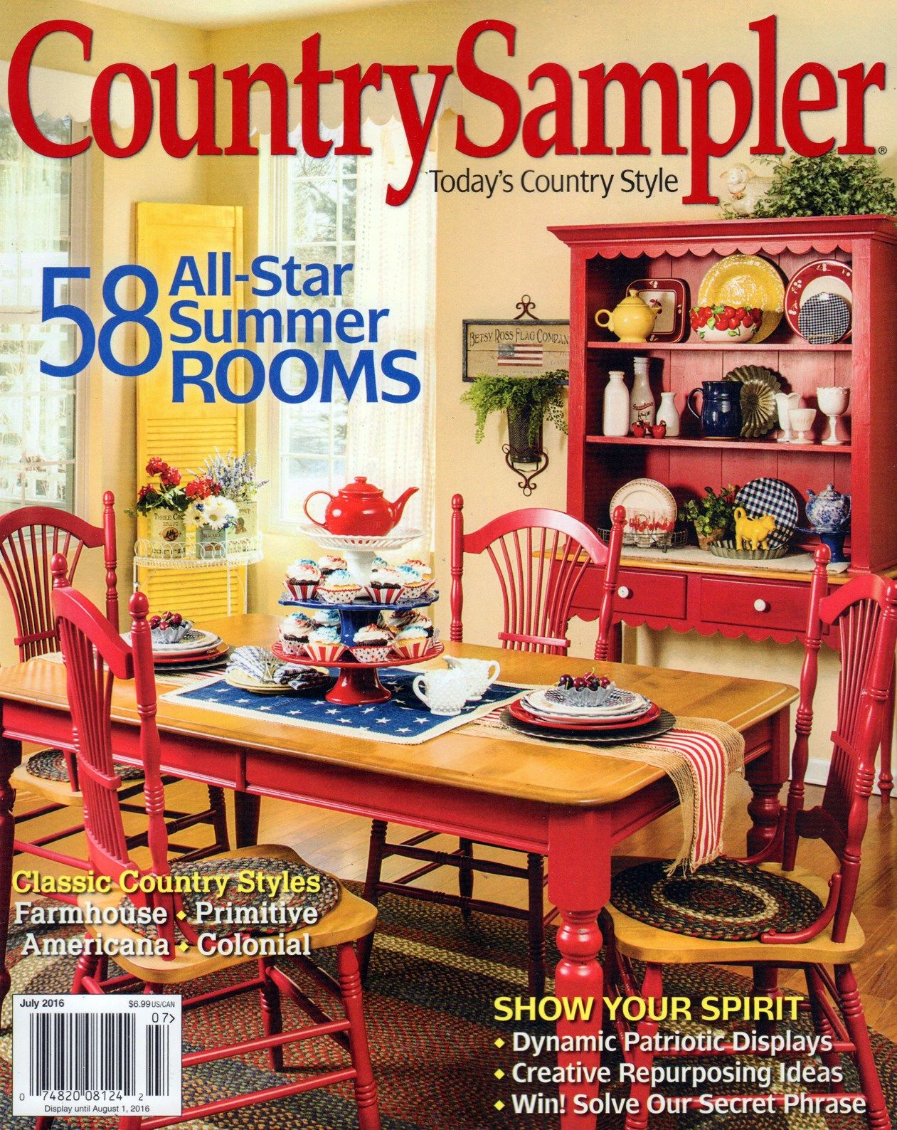 Country Sampler Cover for 7/1/2016 Country sampler