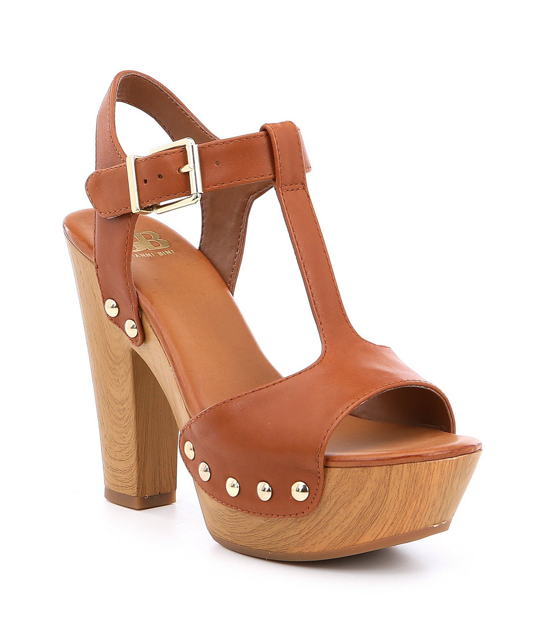 b9ad3e00c20 GB En-Chant Wood Platform Block Heel Dress Sandals | Style ...