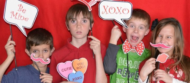 Looking for some fun ideas for your kids' school <em class=short_underline> Valentine's Day party </em>? Look no further. These photo props are an absolute must.   Envision a <em class=short_underline> photo booth </em> where the kids can grab some of their favorite props and strike a pose. Photo props are a fun way to take normal pictures from drab to fab! Your kids' classmates will have a blast posing for you while you capture all of their different person...