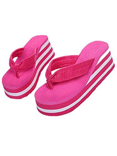 2aa8858e6ed247 DATEWORK Casual Women increased summer slippers sponge flipflops indoor  outdoor US55    More info could be found at the image url.