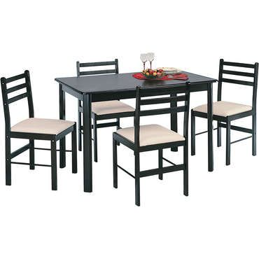 awesome Ensemble Table + 4 chaises NEW QUATRO DARK - Conforama Check - Conforama Tables De Cuisine