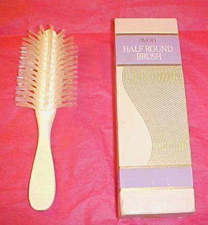 Vintage Avon White Half Round Brush 1970 S Made Fuzzy Hair Even Fuzzier Lol