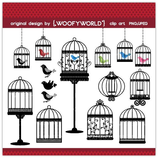 WA87 Elegant Birdcage- Personal and Commercial Use digital