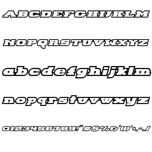 Hackney Block Outline Italic Font   Fonts   Italic font, Block fonts