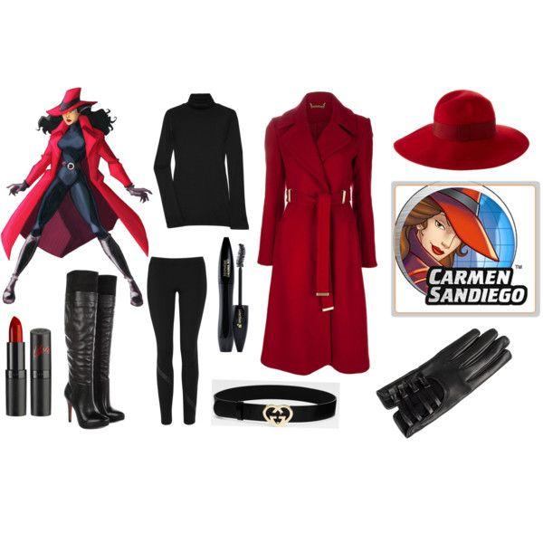 Carmen Sandiego Makeup Diy Halloween Costumes Halloween