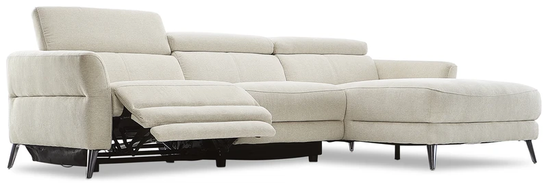 Francesca 2 Piece Power Reclining Sectional With Right Facing Chaise Starburst Shell Leon S In 2020 Reclining Sectional Power Recliners Sectional