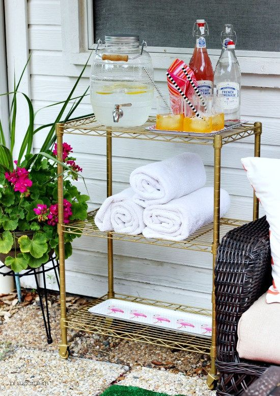 Hi Sugarplum | DIY Patio Bar Cart