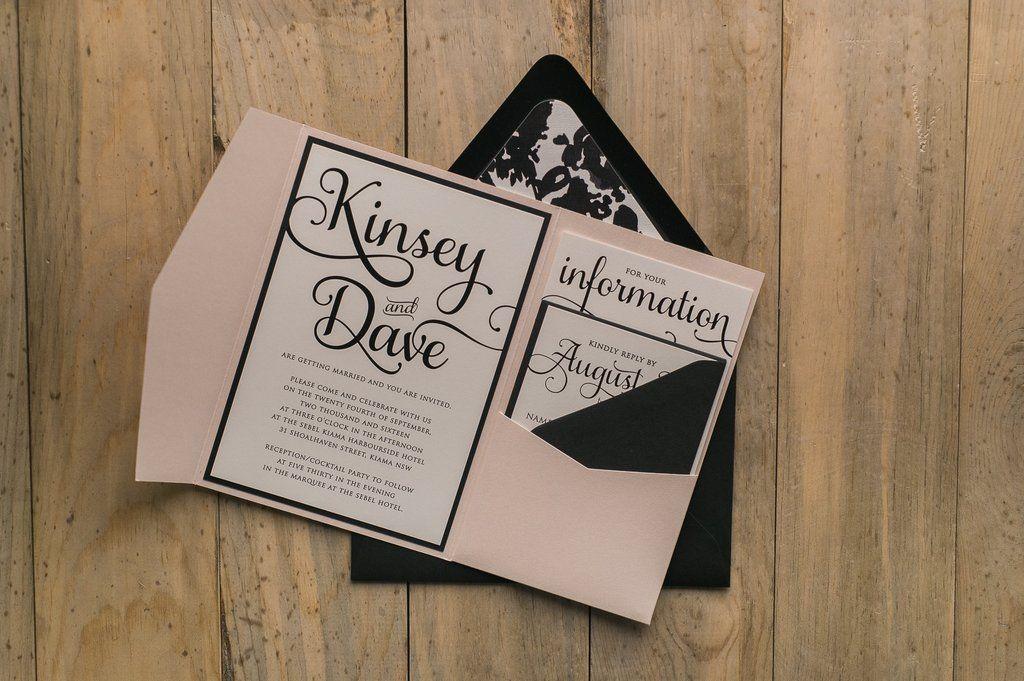 Adele Suite Floral Pocket Folder Package Black Blush