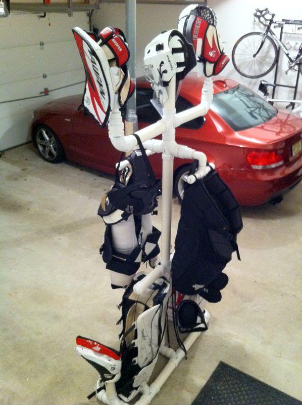 Homemade Equipment Drying Rack Goalie Store Bulletin Board