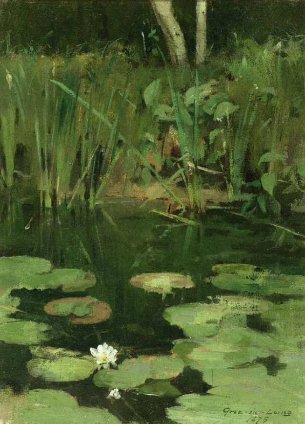 Water Lilies - Theodore Robinson (1878)