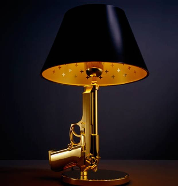 Funky Desk Lamp the bedside gun table beretta bedside lampphilippe starck for