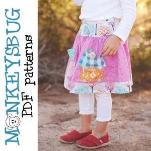 Monkeysbug - Mouse Manor Twirl Skirt - E-PATTERN