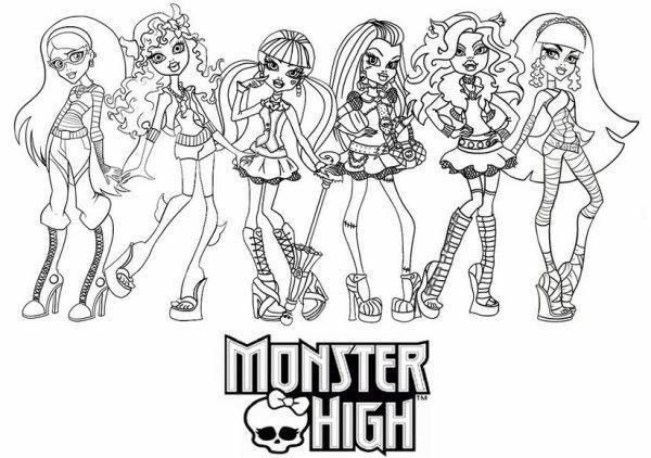 51 Coloriage à Imprimer Monster High Noel in 2020 | Monster high