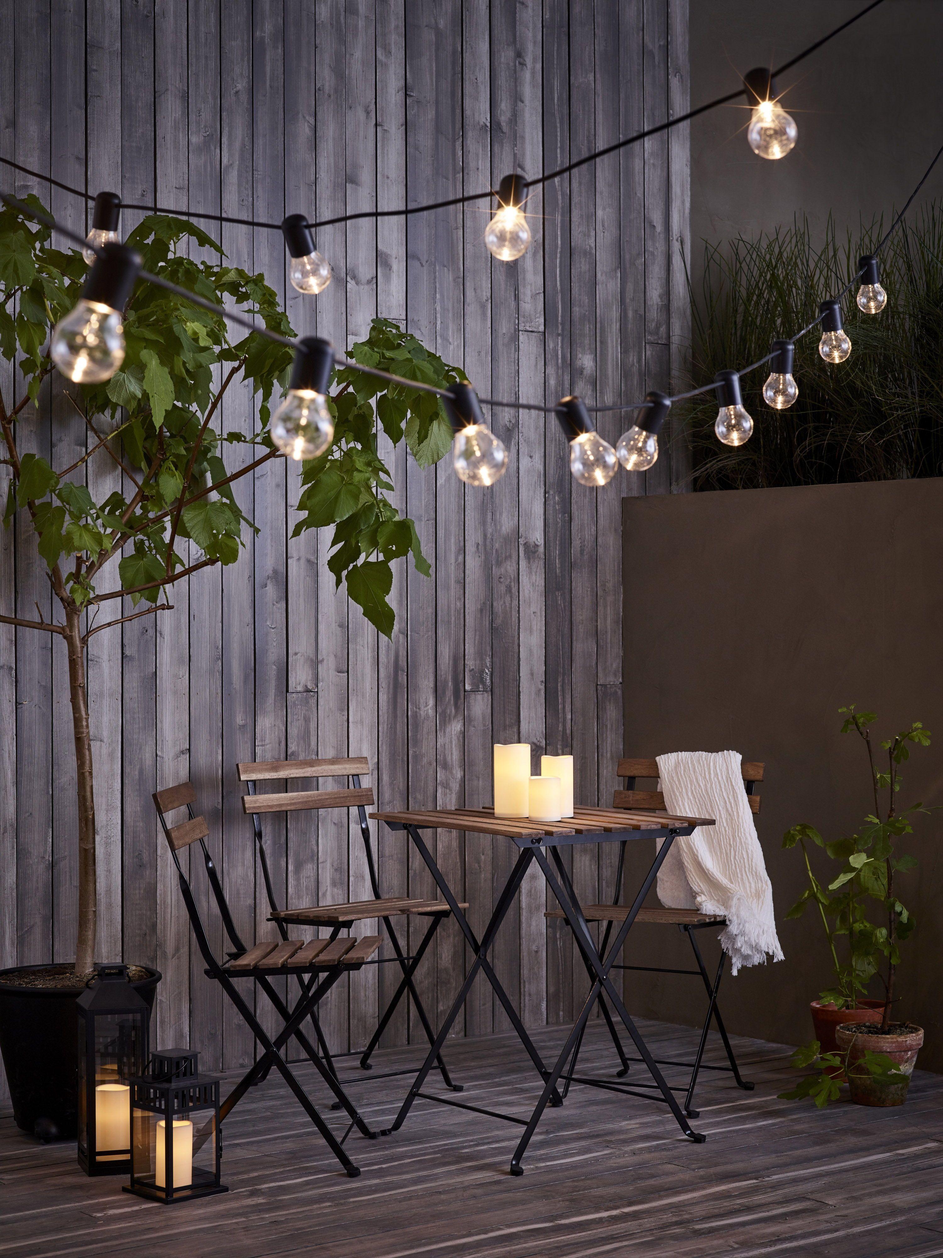 Beste SVARTRÅ Led-lichtsnoer met 12 lampjes - zwart, buiten (met VV-58