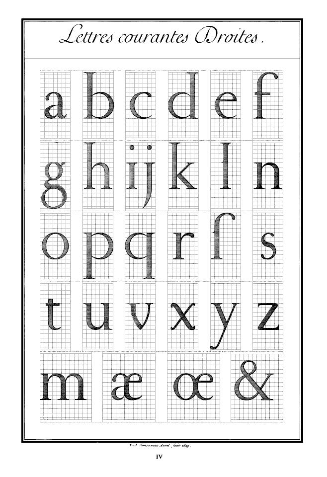 Le Romain du roi  Lettres courantes Droites | Typeface