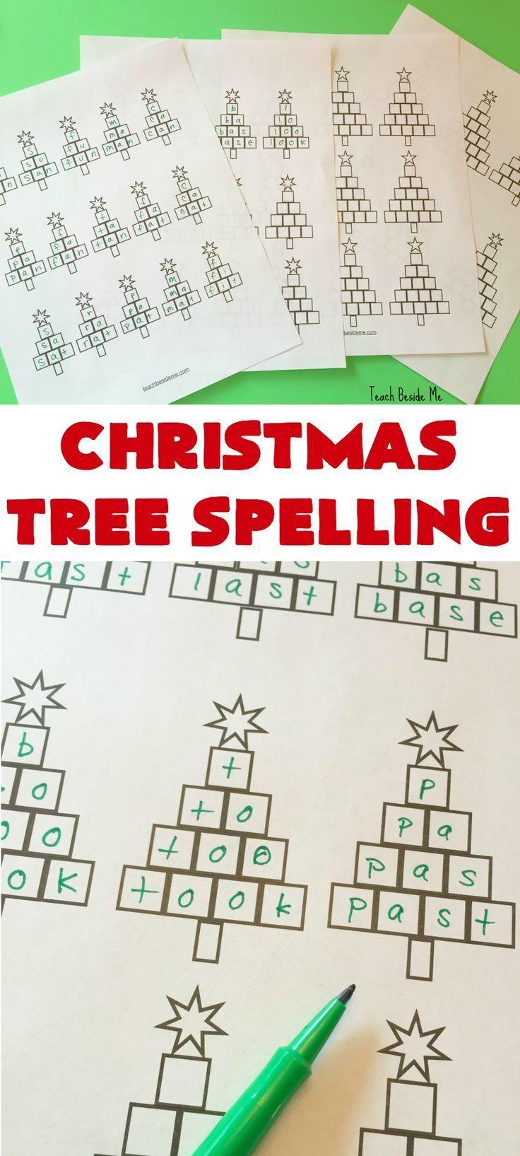 Christmas Tree Spelling Worksheets Spelling Worksheets Christmas Teaching Teaching Spelling [ 1635 x 736 Pixel ]