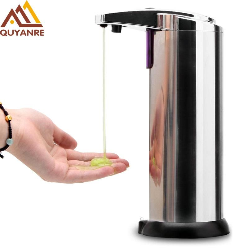 Free Shipping 220ml Automatic Soap Dispenser Stainless Steel Built