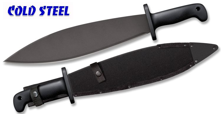 "Cold Steel 97SMATS Smatchet - 14"" Carbon Steel Blade w/Baked-on Anti Rust Black Finish - Polypropylene Handle - Cor-Ex Sheath"