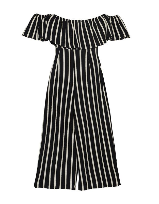 1b4792c0aa3 Striped off-the-shoulder jumpsuit - Dungarees   Jumpsuits - Clothing -  Woman -