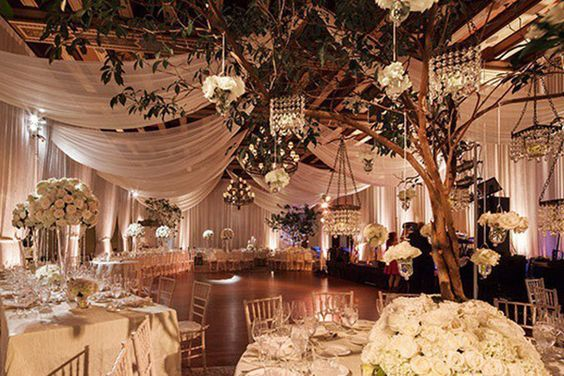Have Either Hanging Lanterns Or Fairy Ceiling Draping WeddingBallroom Wedding ReceptionWedding LightingWedding