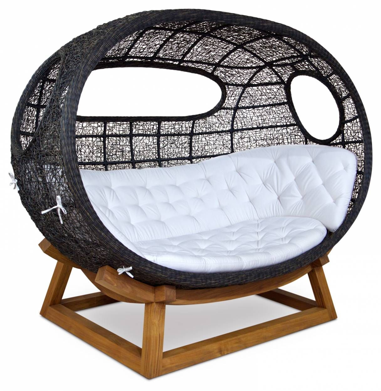 Rattan Weave, Teak , Onda Outdoor Swing Lounge Chair