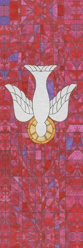 Descending Dove 2' x 6' Symbol of Faith Banner | Church Partner