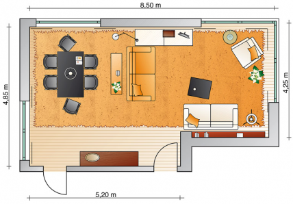 optimale raumteilung wohn und esszimmer sch ner wohnen ideen rund ums haus pinterest. Black Bedroom Furniture Sets. Home Design Ideas