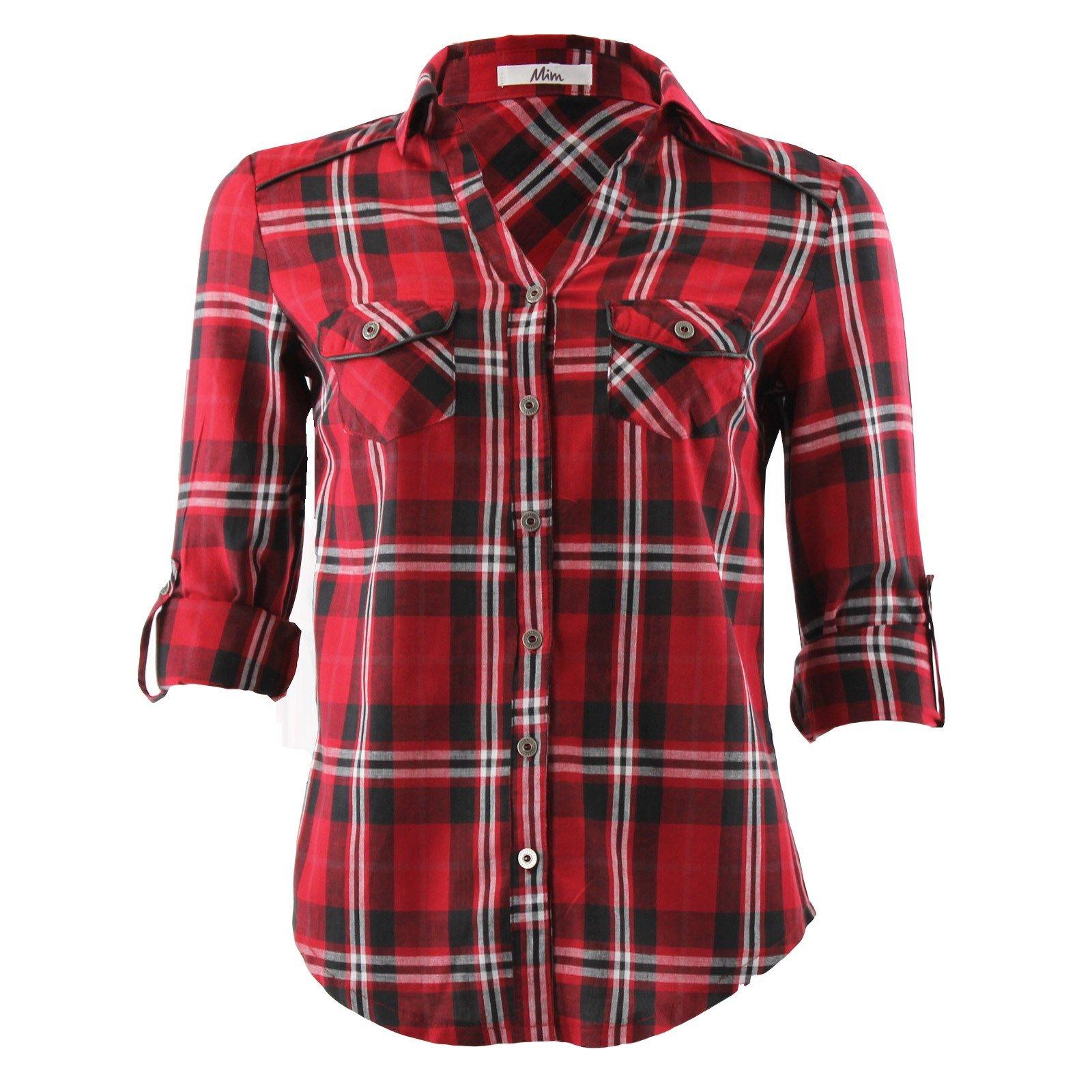 Femmes À Les Leurs CarreauxEsprit Ont Chemises Droit Aussi EDI29H
